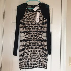 NWT Parker Snakeskin bodycon dress
